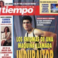 Coleccionismo de Revista Tiempo: MIGUEL INDURAIN - CARMEN ALBORCH - GLORIA ESTEFAN- VER IMAGEN SUMARIO JULIO DE 1993 . Lote 142987102