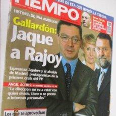 Coleccionismo de Revista Tiempo: TIEMPO REVISTA 1172 18-10-2004 GALLARDON - JAQUE A RAJOY . Lote 144654002