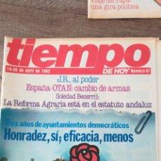 Coleccionismo de Revista Tiempo: REVISTA TIEMPO 47 / ABRIL 1982 / FRAGA, JUAN CARLOS, ROSON, LARRY HAGMAN 47. Lote 145797624