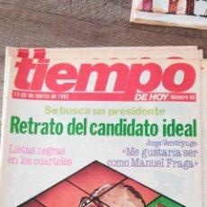 Coleccionismo de Revista Tiempo: TEVISTA TIEMPO 43 / MARZO 1982 / JORGE VERSTRYNGE, TIERNO GALVAN, FELIPE GONZALEZ 47. Lote 145797822