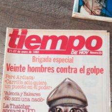 Coleccionismo de Revista Tiempo: REVISTA TIEMPO 35 / ANERO 1982 / MARGARET THATCHER, PERE ARDIACA, DOÑA SOFIA, CARRILLO 47. Lote 145798001