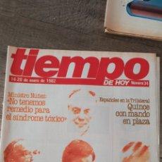 Coleccionismo de Revista Tiempo: REVISTA TIEMPO 34 / ENERO 1982 / FELIPE GONZALEZ, MINISTRO NUÑEZ, CALVO SOTELO, REY JUAN CARLOS 47. Lote 145798145