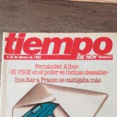 Coleccionismo de Revista Tiempo: REVISTA TIEMPO 37 / FEBRERO 1982 / ETA, FERNANDEZ ALBOR, FRANCO, PSOE 47. Lote 145798296