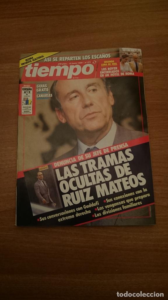 REVISTA TIEMPO 12 JUNIO 1989 -Nº 371 (Coleccionismo - Revistas y Periódicos Modernos (a partir de 1.940) - Revista Tiempo)