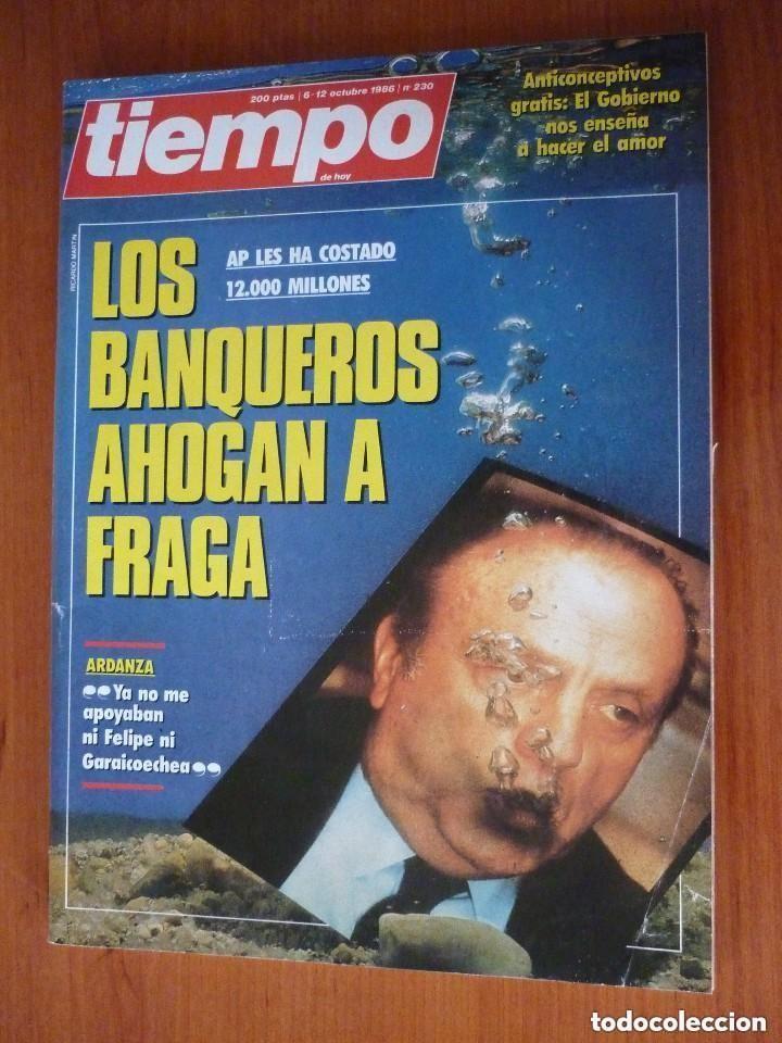 REVISTA TIEMPO Nº 230, OCTUBRE 86 (Coleccionismo - Revistas y Periódicos Modernos (a partir de 1.940) - Revista Tiempo)
