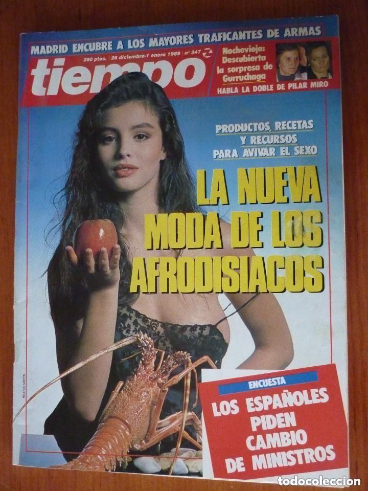 REVISTA TIEMPO Nº 347, ENERO 89 (Coleccionismo - Revistas y Periódicos Modernos (a partir de 1.940) - Revista Tiempo)