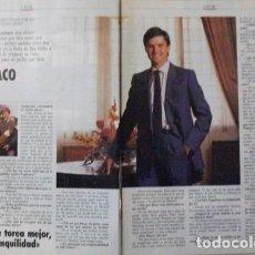 Coleccionismo de Revista Tiempo: RECORTE REVISTA TIEMPO Nº 472 1991 ESPARTACO, TORERO. Lote 158016002