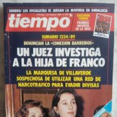 Coleccionismo de Revista Tiempo: REVISTA TIEMPO - Nº 390 -UN JUEZ INVESTIGA A LA HIJA DE FRANCO - LOS QUE LUCHAN POR SUCEDER A FELIPE. Lote 162475874