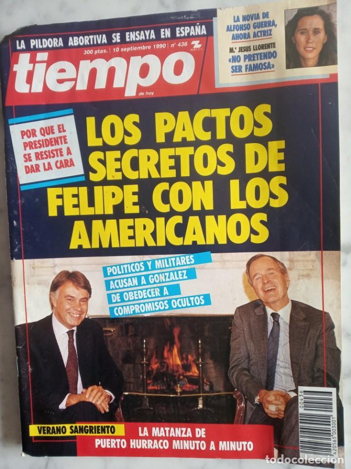 REVISTA TIEMPO - Nº 436 - LOS PACTOS SECRETOS DE FELIPE CON LOS AMERICANOS - (Coleccionismo - Revistas y Periódicos Modernos (a partir de 1.940) - Revista Tiempo)
