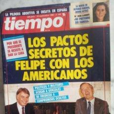 Coleccionismo de Revista Tiempo: REVISTA TIEMPO - Nº 436 - LOS PACTOS SECRETOS DE FELIPE CON LOS AMERICANOS -. Lote 162476234