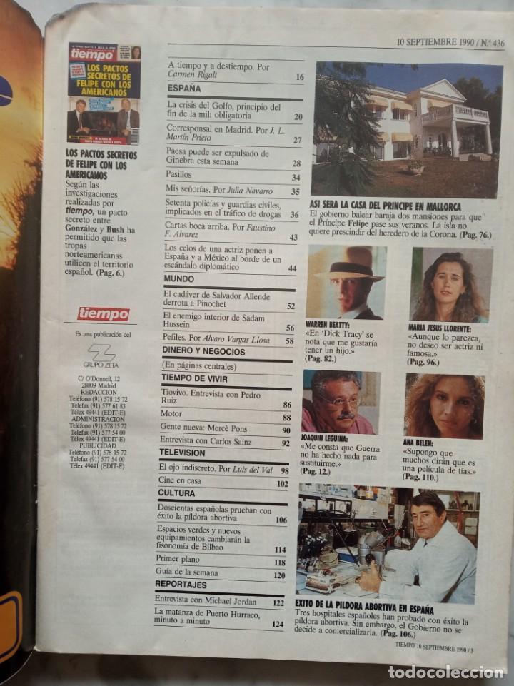 Coleccionismo de Revista Tiempo: revista tiempo - nº 436 - los pactos secretos de felipe con los americanos - - Foto 2 - 162476234