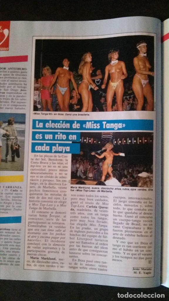 1985-IBIZA-ANGELA MOLINA-MARBELLA (Coleccionismo - Revistas y Periódicos Modernos (a partir de 1.940) - Revista Tiempo)