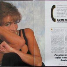 Coleccionismo de Revista Tiempo: RECORTE REVISTA TIEMPO Nº 542 1992 CARMEN MAURA. 3 PGS. Lote 163007554