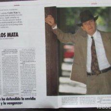 Collectionnisme de Magazine Tiempo: RECORTE REVISTA TIEMPO Nº 542 1992 CARLOS MATA. Lote 163008338