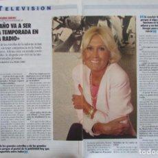 Coleccionismo de Revista Tiempo: RECORTE REVISTA TIEMPO Nº 542 1992 ENCARNA SANCHEZ. Lote 163008382