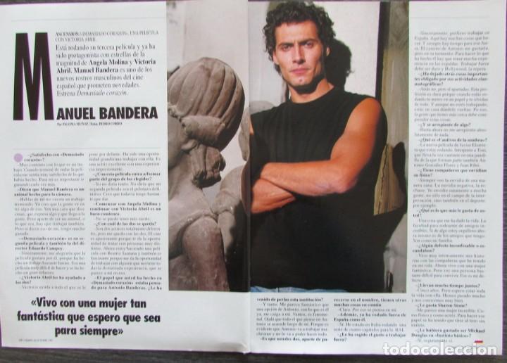 RECORTE REVISTA TIEMPO Nº 547 1992 MANUEL BANDERA (Coleccionismo - Revistas y Periódicos Modernos (a partir de 1.940) - Revista Tiempo)