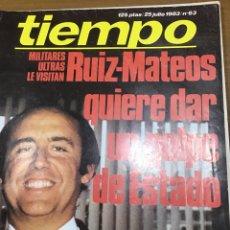 Coleccionismo de Revista Tiempo: TIEMPO NÚMERO 63. Lote 165400022