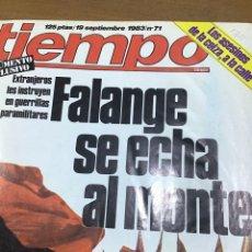 Coleccionismo de Revista Tiempo: TIEMPO NÚMERO 71. Lote 165400468