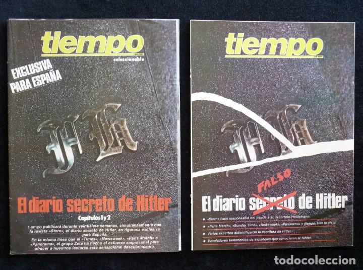 REVISTA TIEMPO DE HOY. EL DIARIO SECRETO DE HITLER. LOTE DE 2 COLECCIONABLES. MAYO 1983 (Coleccionismo - Revistas y Periódicos Modernos (a partir de 1.940) - Revista Tiempo)
