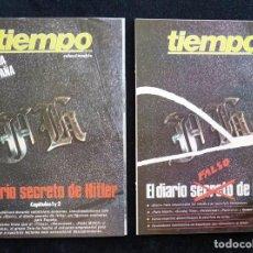 Coleccionismo de Revista Tiempo: REVISTA TIEMPO DE HOY. EL DIARIO SECRETO DE HITLER. LOTE DE 2 COLECCIONABLES. MAYO 1983. Lote 165475486