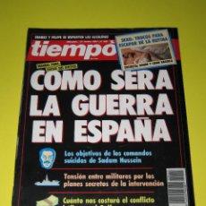 Coleccionismo de Revista Tiempo: TIEMPO - NÚM. 455 - COMO SERA LA GUERRA EN ESPAÑA - 21.01.1991 - 146 PÁG.. Lote 165488714