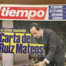 Coleccionismo de Revista Tiempo: TIEMPO NÚMERO 193. Lote 165511254