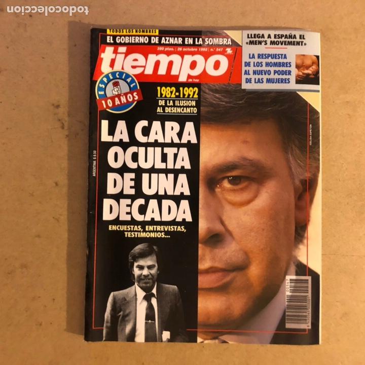 TIEMPO N°547 (OCTUBRE, 1992). ESPECIAL 10 AÑOS PSOE GOBIERNO (LA CARA OCULTA),... (Coleccionismo - Revistas y Periódicos Modernos (a partir de 1.940) - Revista Tiempo)