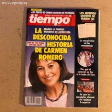 Coleccionismo de Revista Tiempo: TIEMPO N°552 (NOVIEMBRE, 1992). LOS ARCHIVOS SECRETOS DE FRANCO (II), CARMEN ROMERO,.... Lote 167627098