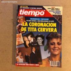 Coleccionismo de Revista Tiempo: TIEMPO N°546 (OCTUBRE, 1992). TITQ CERVERA, JULIA OTRRO, CURRO ROMERO, PACO RABAL,.... Lote 167627221
