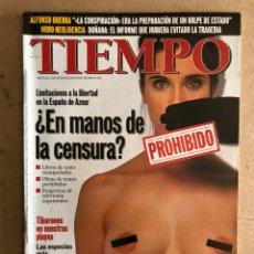 Coleccionismo de Revista Tiempo: TIEMPO N°841 (JUNIO, 1998). PORTADA PRIMER DESNUDO PILAR RUBIO, ETA, ALFONSO GUERRA,.... Lote 168512433