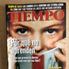 Coleccionismo de Revista Tiempo: TIEMPO N°845 (JULIO, 1998). LOS GAL, ENTREVISTA JOAQUÍN SABINA, CRISIS GOBIERNO,.... Lote 168513025