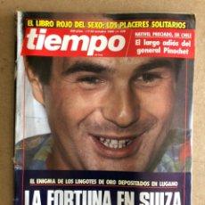 Colecionismo da Revista Tiempo: TIEMPO N°336 (OCTUBRE, 1988). CASO URQUIJO RAFI ESCOBEDO, PINOCHET, ANTONIO GALA. Lote 168519161