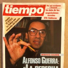 Collectionnisme de Magazine Tiempo: TIEMPO N°134 (DICIEMBRE, 1984). ALFONSO GUERRA, SANTI BROUARD, NEGOCIACIONES ETA GOBIERNO, CRIMEN DE. Lote 169240238