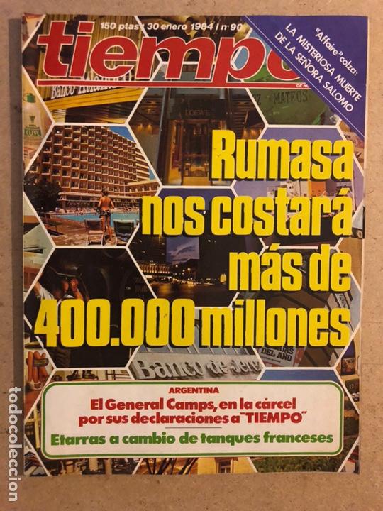 TIEMPO N°90 (ENERO, 1984). RUMASA, ACEITE DE COLZA, ETA, ANA DIOSDADO, GENERAL NORIEGA,... (Coleccionismo - Revistas y Periódicos Modernos (a partir de 1.940) - Revista Tiempo)