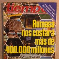 Coleccionismo de Revista Tiempo: TIEMPO N°90 (ENERO, 1984). RUMASA, ACEITE DE COLZA, ETA, ANA DIOSDADO, GENERAL NORIEGA,.... Lote 169240452