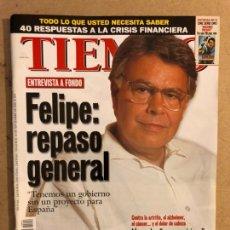 Coleccionismo de Revista Tiempo: TIEMPO N°854 (SEPTIEMBRE, 1998). FELIPE GONZÁLEZ, HERRI BATASUNA, , ÁLVAREZ CASCOS,.... Lote 169240993