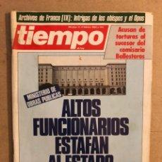 Coleccionismo de Revista Tiempo: TIEMPO DE HOY N°861 (FEBRERO, 1985). ARCHIVOS DE FRANCO (IX), TORTURAS, ETA, CORRUPCIÓN,.... Lote 169243228