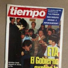 Coleccionismo de Revista Tiempo: TIEMPO N° 121 (SEPTIEMBRE 1984). NEGOCIACIONES ETA GOBIERNO, LOS GAL, RAFAEL VERA, PUJOL,.... Lote 169937896