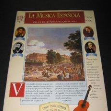 Coleccionismo de Revista Tiempo: FASCÍCULO NÚM. 9 - GRAN ENCICLOPEDIA DE LA MÚSICA - ED. TIEMPO - LA MÚSICA ESPAÑOLA. Lote 171022335
