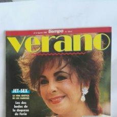 Coleccionismo de Revista Tiempo: REVISTA TIEMPO VERANO 1988 POSTER HOMBRES G LIZ TAYLOR. Lote 171716764
