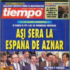 Collectionnisme de Magazine Tiempo: TIEMPO Nº 576 LA ESPAÑA DE AZNAR - MARIO CONDE OPERACION WALL STREET... AÑO 1993 BUEN ESTADO. Lote 171722678