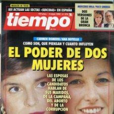 Colecionismo da Revista Tiempo: TIEMPO Nº 574 CARMEN ROMERO / ANA BOTELLA - JULIO ANGUITA - CHARO LOPEZ - .... AÑO 1993 BUEN ESTADO. Lote 171722833