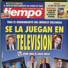 Coleccionismo de Revista Tiempo: TIEMPO Nº 578 AZNAR / FELIPE ARTISTAS, ESCRITORES, INTELECTUALES... A QUIEN VOTAN 1993 BUEN ESTADO. Lote 171723600