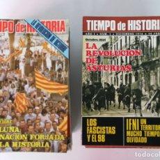 Coleccionismo de Revista Tiempo: TIEMPO DE HISTORIA 57 EJEMPLARES . Lote 171733169