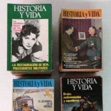 Coleccionismo de Revista Tiempo: HISTORIA Y VIDA, 128 EJEMPLARES. Lote 171754774
