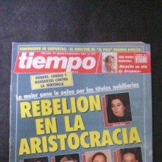Coleccionismo de Revista Tiempo: UN DOS TRES-ANGELA MOLINA-JAMES BOND-SILVIA MARSÓ-PUNKS-CARI LAPIQUE-ISABEL PREYSLER-ANA OBREGON. Lote 175059933