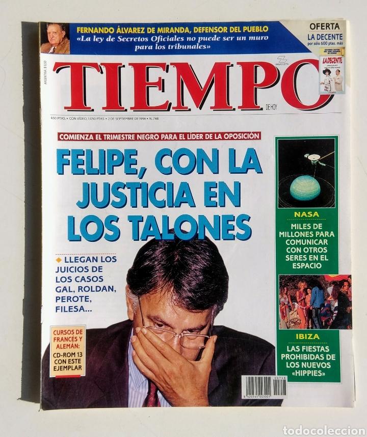 LOTE DE 6 REVISTAS. TIEMPO DE HOY. 1991-1996. (Coleccionismo - Revistas y Periódicos Modernos (a partir de 1.940) - Revista Tiempo)