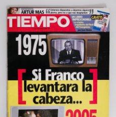 Coleccionismo de Revista Tiempo: TIEMPO #1229 - SI FRANCO LEVANTARA LA CABEZA. Lote 178073364