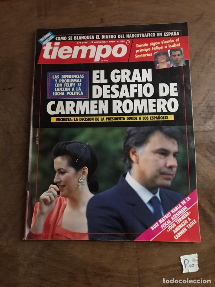 TIEMPO - EL GRAN DESAFÍO DE CARMEN ROMERO (Coleccionismo - Revistas y Periódicos Modernos (a partir de 1.940) - Revista Tiempo)