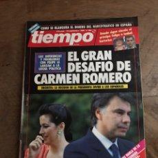 Coleccionismo de Revista Tiempo: TIEMPO - EL GRAN DESAFÍO DE CARMEN ROMERO. Lote 182105042